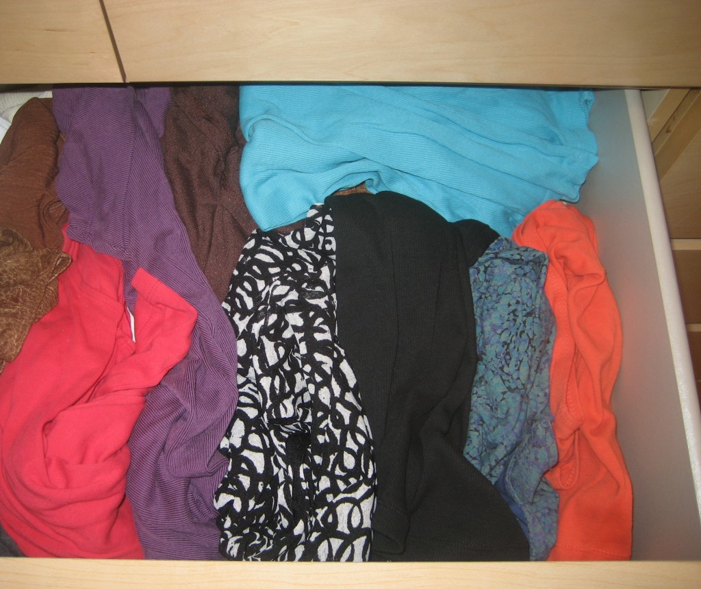 clothes in drawer