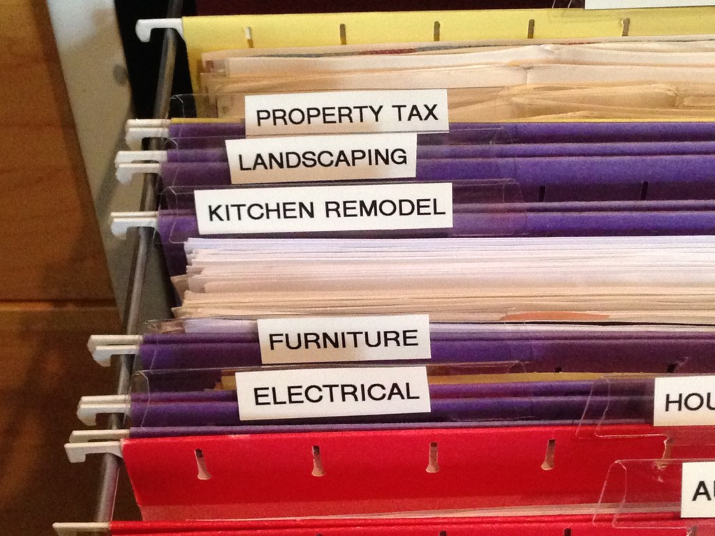 after - house files clearly labeled