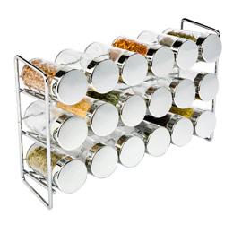 chrome spice rack