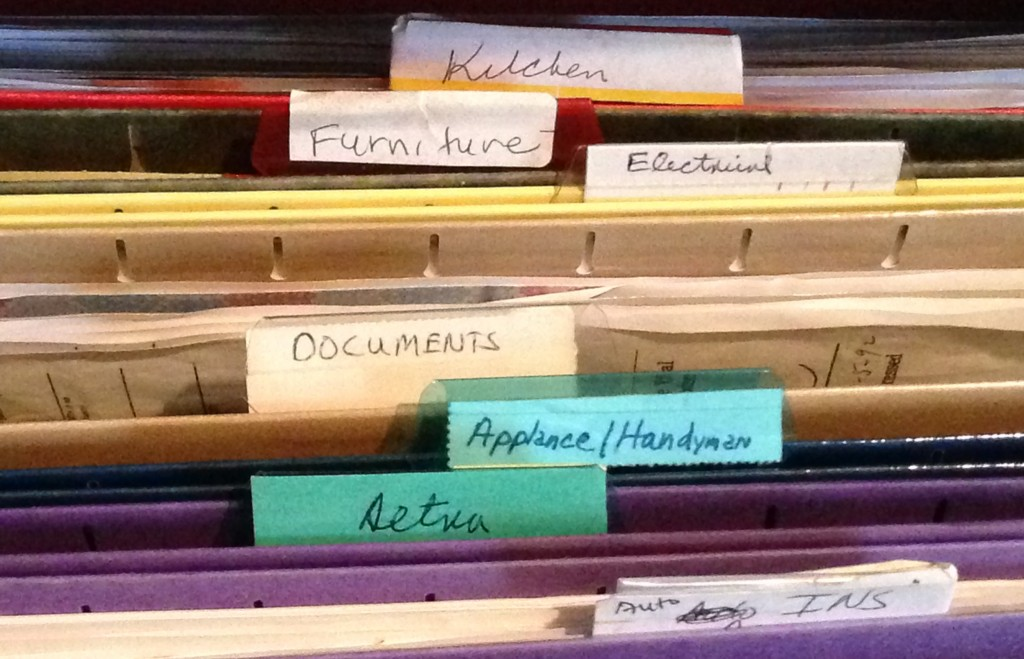handwritten labels