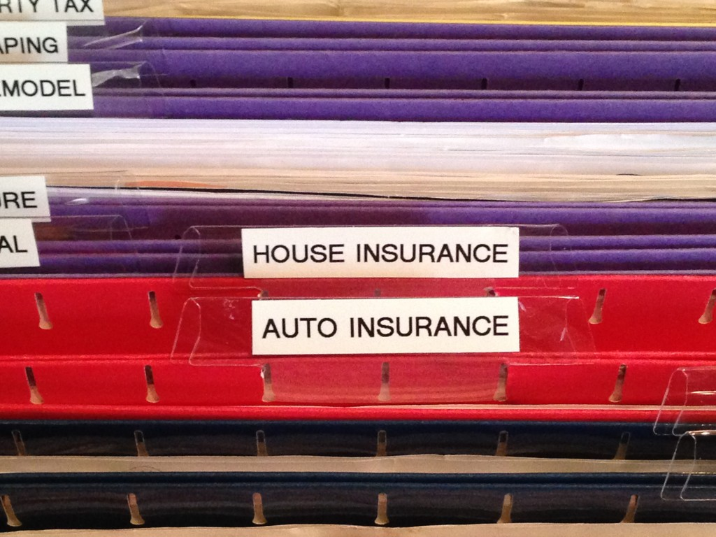 insurance labels, clear and readable