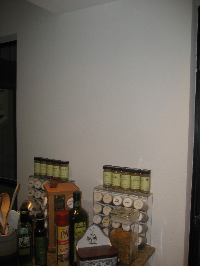 spices on blank wall