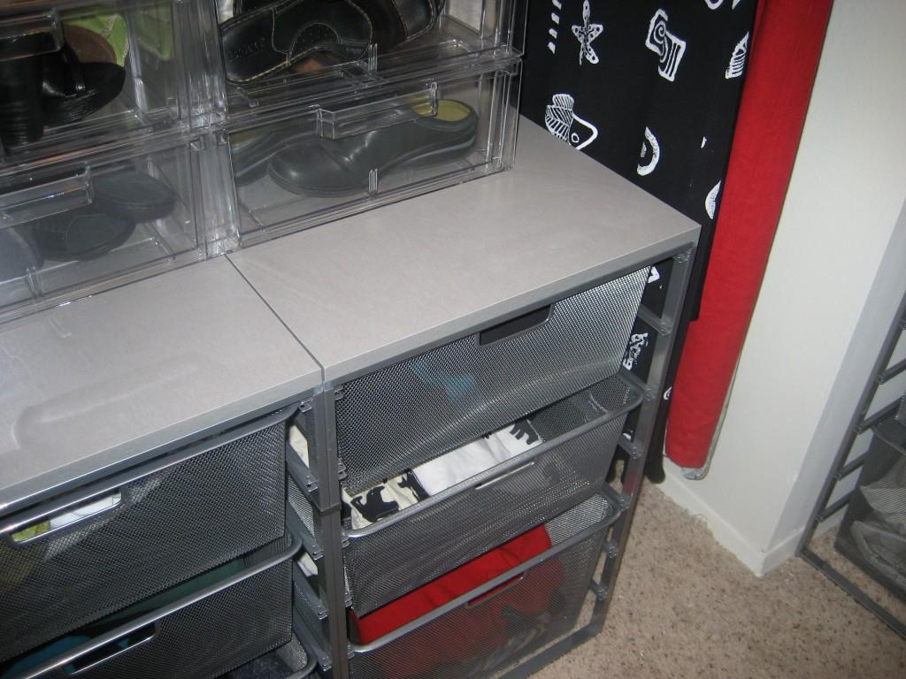 drawers and long hang