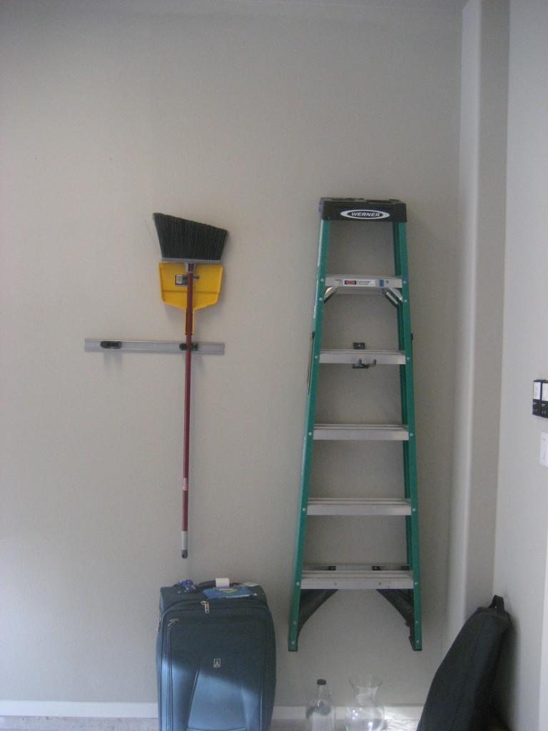 ladder on wall  hook