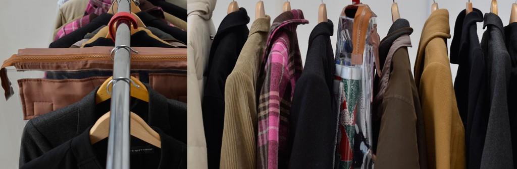 Wrap-It hanging in closet