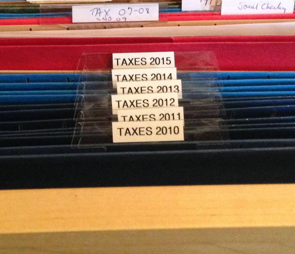 tax year labels - A Jones For Organizing