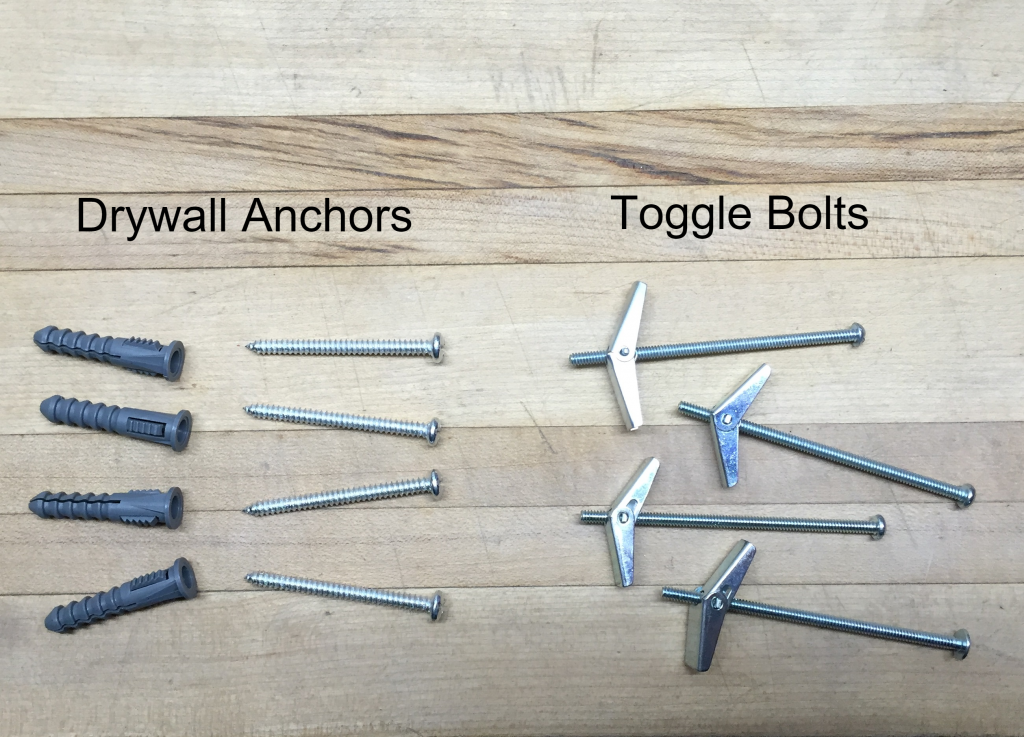 A Jones for Organizing drywall anchors and toggle bolts